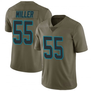 Men's Christian Miller Carolina Panthers Limited Green 2017 Salute to Service Jersey