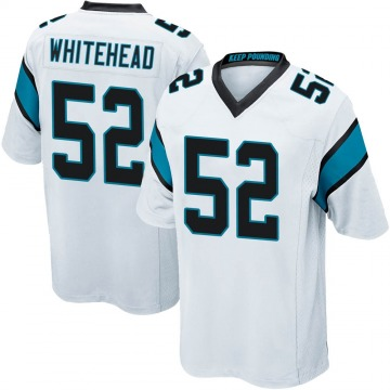 Men's Tahir Whitehead Carolina Panthers Game White Jersey