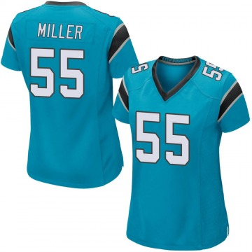Women's Christian Miller Carolina Panthers Game Blue Alternate Jersey