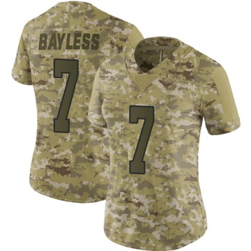 Women's Omar Bayless Carolina Panthers Limited Camo 2018 Salute to Service Jersey