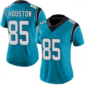 Women's Wyatt Houston Carolina Panthers Limited Blue Alternate Vapor Untouchable Jersey
