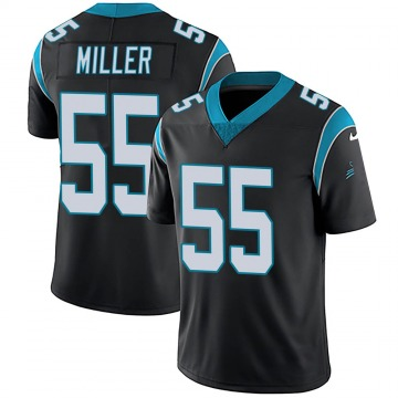 Youth Christian Miller Carolina Panthers Limited Black Team Color Vapor Untouchable Jersey