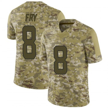 Youth Elliott Fry Carolina Panthers Limited Camo 2018 Salute to Service Jersey