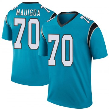 Youth Frederick Mauigoa Carolina Panthers Legend Blue Color Rush Jersey