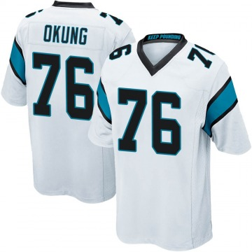 Youth Russell Okung Carolina Panthers Game White Jersey