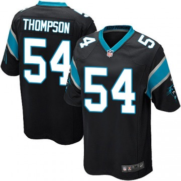 Youth Shaq Thompson Carolina Panthers Game Black Team Color Jersey